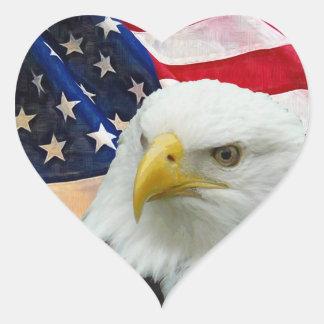 Eu amo os EUA Adesivo Coração