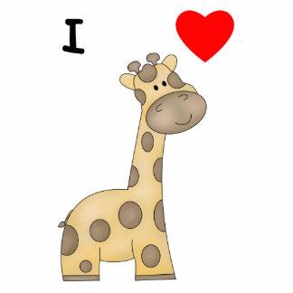 Eu amo os girafas (3) escultura de fotos