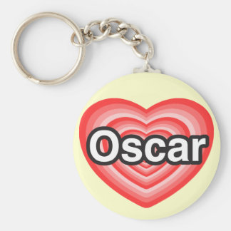 Eu amo Oscar. Eu te amo Oscar. Coração Chaveiro