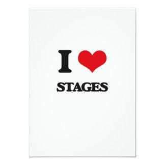 Eu amo palcos convite 12.7 x 17.78cm