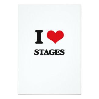 Eu amo palcos convite 8.89 x 12.7cm
