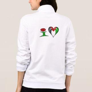 Eu amo Palestina mim coração Palestina Jaqueta