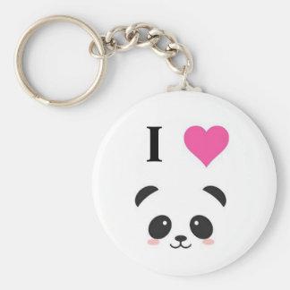 Eu amo pandas chaveiro