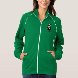 Eu amo pandas! jaqueta com estampa