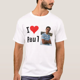 Eu amo Paul Camiseta