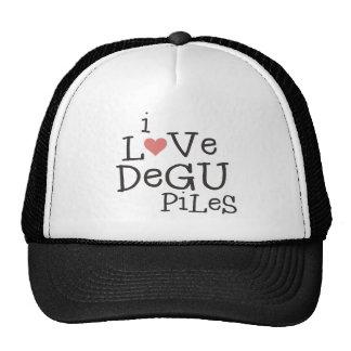 Eu amo pilhas de Degu Boné