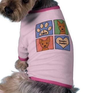 Eu amo Pinschers diminutos Camisetas Para Cães