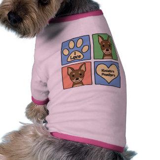 Eu amo Pinschers diminutos Roupa Para Pet