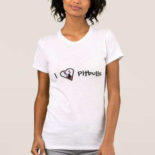 Eu amo pitbulls t-shirts
