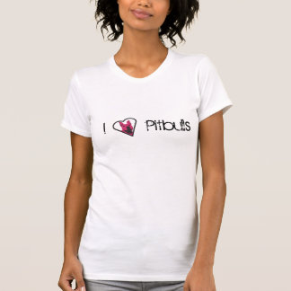 Eu amo pitbulls t-shirt