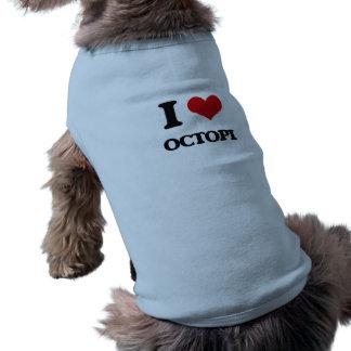 Eu amo polvo roupas para cães