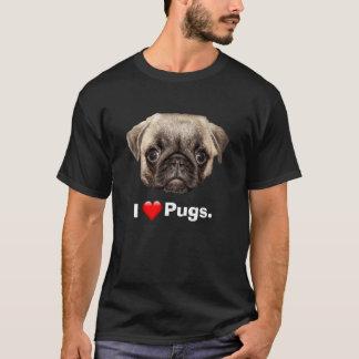 Eu amo Pugs Tshirt