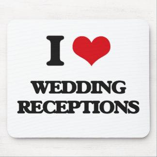 Eu amo recepções de casamento mouse pad