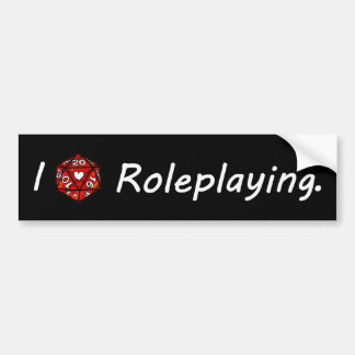Eu amo Roleplaying! Adesivo Para Carro