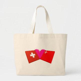Eu amo Schwyz Bolsas De Lona