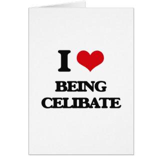 Eu amo ser celibato cartão comemorativo