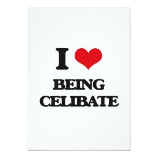 Eu amo ser celibato convite 12.7 x 17.78cm