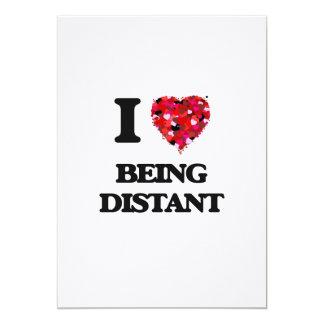 Eu amo ser distante convite 12.7 x 17.78cm