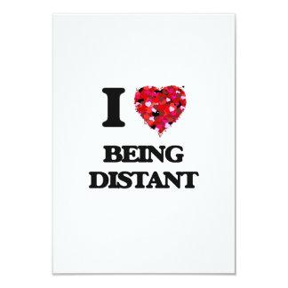 Eu amo ser distante convite 8.89 x 12.7cm