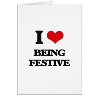 Eu amo ser festivo cartão comemorativo