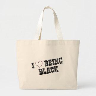 Eu amo ser preto bolsas para compras
