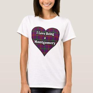 Eu amo ser um Tartan de Montgomery do clã de Camiseta