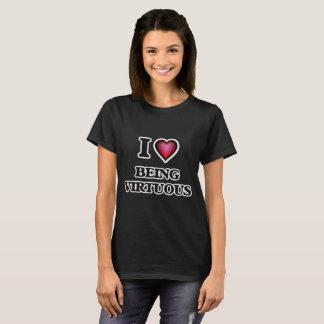 Eu amo ser virtuoso camiseta