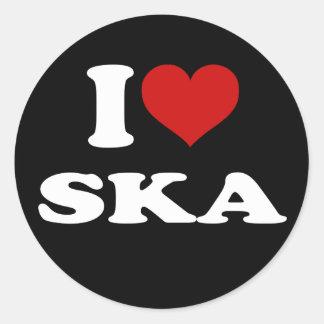 Eu amo Ska Adesivo