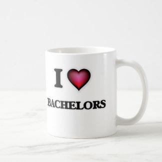 Eu amo solteiros caneca de café