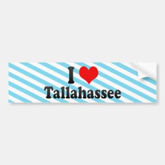 Eu amo Tallahassee, os Estados Unidos Adesivo Para Carro