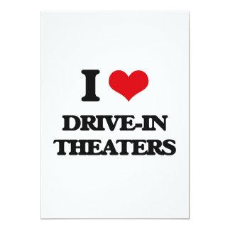 Eu amo teatros do cinema ao ar livre convite 12.7 x 17.78cm