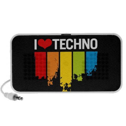 Eu amo Techno - auto-falante Caixinha De Som
