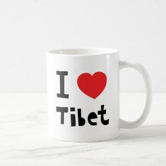 Eu amo Tibet Caneca De Café