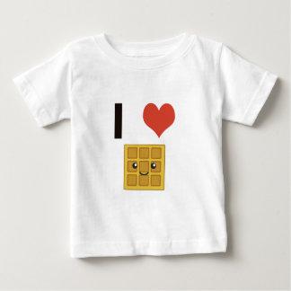 Eu amo Waffles Camiseta Para Bebê