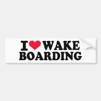 Eu amo Wakeboarding Adesivo Para Carro