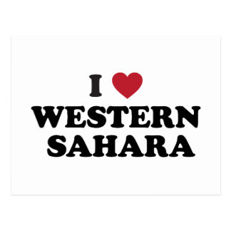 Eu amo Western Sahara Cartoes Postais