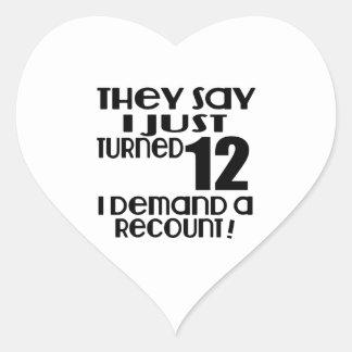 Eu apenas girei a procura 12 uma descrição adesivo coração