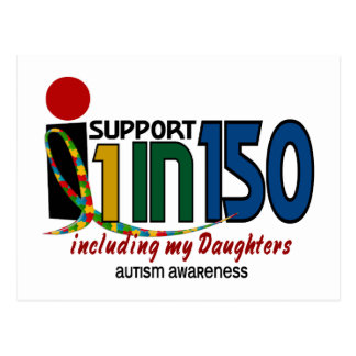 Eu apoio 1 em 150 & minha CONSCIÊNCIA do AUTISMO Cartão Postal