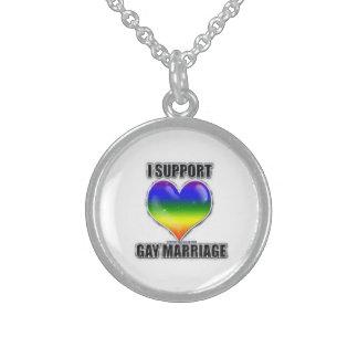 Eu apoio a colar do casamento gay