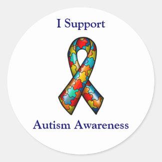 Eu apoio a consciência do autismo adesivo