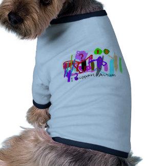 Eu apoio o animal de estimação do autismo roupa para pet