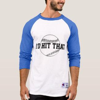 Eu bateria esse basebol tshirt