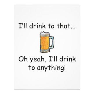 Eu beberei àquele! panfleto coloridos