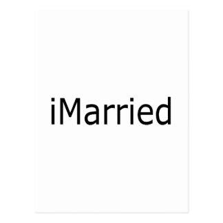 eu casei-me cartão postal