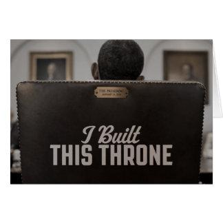 Eu construí este trono: A cadeira vazia fala Cartão Comemorativo