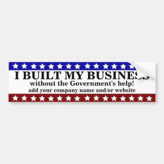 Eu construí meu negócio adesivo para carro