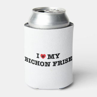Eu coração meu Bichon Frise posso refrigerador Porta-lata