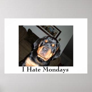 Eu deio o impressão de segundas-feiras