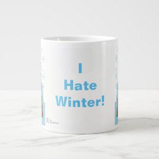 Eu deio o inverno por Evaw Nomis Caneca De Café Grande