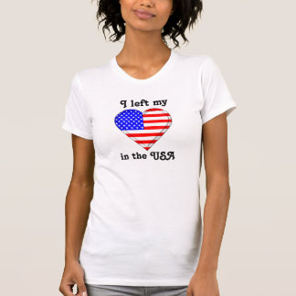 Eu deixei meu coração nos EUA Tshirts